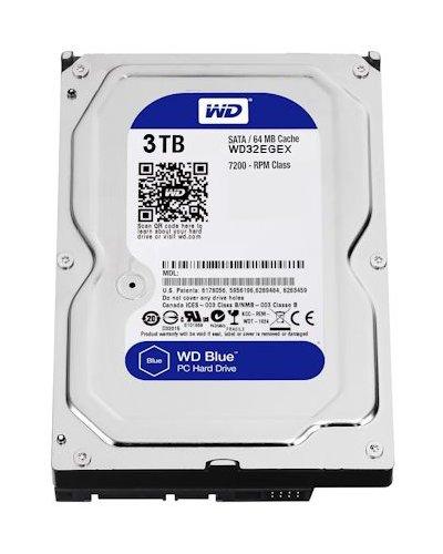 3 TB int. Festplatte 7.200 RPM SATA 3,5 WD